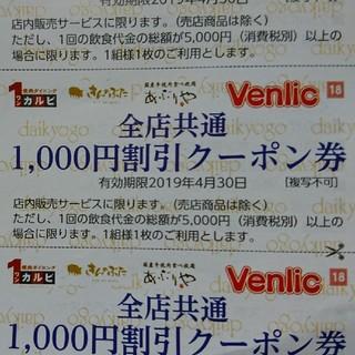 きんのぶた 割引券(レストラン/食事券)