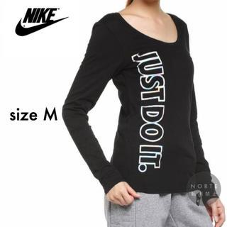 ナイキ(NIKE)のM【新品】NIKE JUST DO IT メタリック プリント ロンT Tシャツ(Tシャツ(長袖/七分))