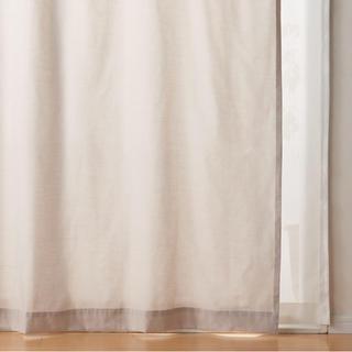 ムジルシリョウヒン(MUJI (無印良品))のポリエステル綿ノンプリーツカーテン 2枚組(カーテン)