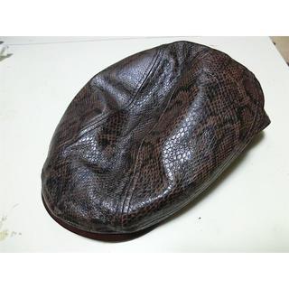 ウエストライド(WESTRIDE)のWESTRIDE(ウエストライド)帽子 ハンチング パイソン柄 Mサイズ(ハンチング/ベレー帽)