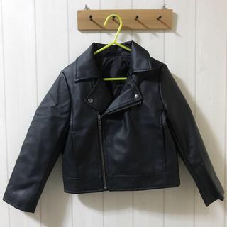 ジーユー(GU)のGU♡ライダースジャケット♡110cm(ジャケット/上着)