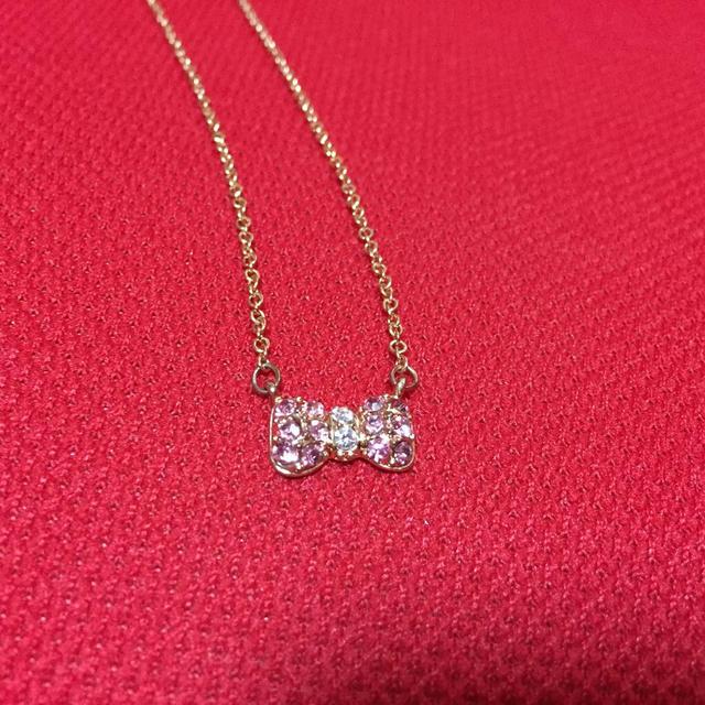 リボンモチーフ♡ネックレス レディースのアクセサリー(ネックレス)の商品写真