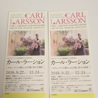 カール・ラーション チケット 二枚 【最終値下げ】(美術館/博物館)