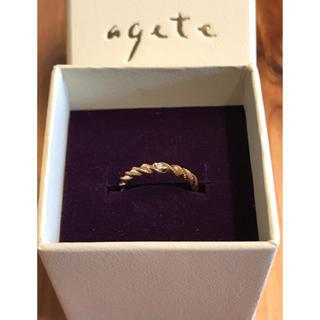 アガット(agete)のagete ピンキーリング 1号(リング(指輪))