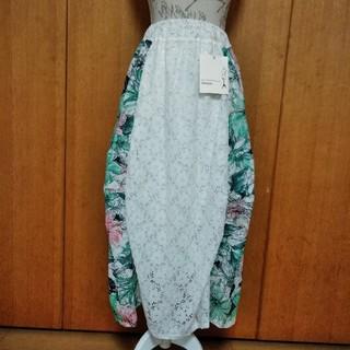 アンティカ(antiqua)の★値下げ★アンティカ レース裾変形花柄スカートD(ロングスカート)