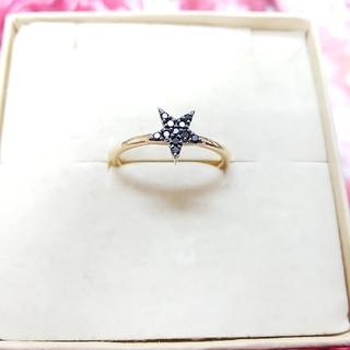 サマンサティアラ K10 ブラックダイヤモンドリング(リング(指輪))