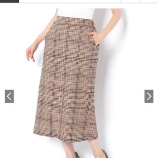 ディスコート(Discoat)のyu様 お取り置き Discoat  綿麻チェックナロースカート(ひざ丈スカート)