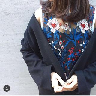 マメ(mame)の【mame kurogouchi】レースブラウス(シャツ/ブラウス(半袖/袖なし))