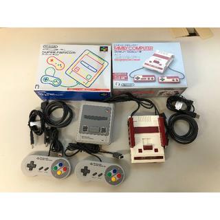ニンテンドウ(任天堂)のニワトリ 様専用 ミニスーファミとミニファミコンのセット(家庭用ゲーム本体)