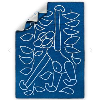 カイボイスン(Kay Bojesen)のKAY BOJESEN DENMARK ブルー ラムウール ブランケット(日用品/生活雑貨)