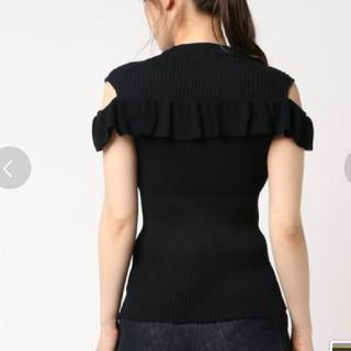 ルシェルブルー(LE CIEL BLEU)のルシェルブルー フロントフリルニット 新品タグ付き 完売品 黒色(ニット/セーター)