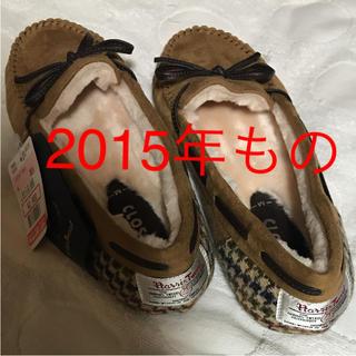 シマムラ(しまむら)の【新品未使用】しまむら ハリスツイード モカシン 靴 キャメル M(スリッポン/モカシン)