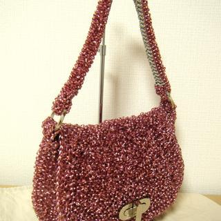 アンベル(AMBELL)の美品 アンテプリマ ワンショルダーバッグ ワイヤーバッグ ピンク 215(ハンドバッグ)