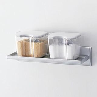 MUJI (無印良品) - キッチン吸盤付きタカラスタンダードマグネットアルミタイプ収納ラック小物置き