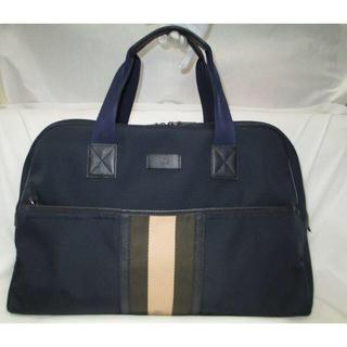 グッチ(Gucci)の美品 GUCCI グッチ ボストンバッグ ダッフルバッグ 青 旅行鞄 本物(トラベルバッグ/スーツケース)