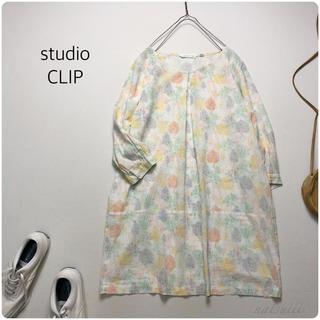 スタディオクリップ(STUDIO CLIP)のスタディオクリップ . 総柄 プリント ワンピース   日本製(ミニワンピース)