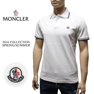 モンクレール(MONCLER)の8 MONCLER ホワイト ポロシャツ size S(ポロシャツ)