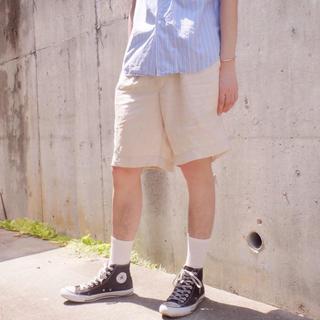 エミスフィール(HEMISPHERE)のエミスフィール デザインハーフパンツオフホワイト/ショートパンツ(ショートパンツ)