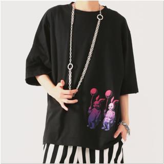 ファンキーフルーツ(FUNKY FRUIT)の[Drug]スケルトンバニィ半袖BIGトップス(Tシャツ(半袖/袖なし))