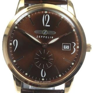 ツェッペリン(ZEPPELIN)のツェッペリン フラットライン 美品 ブラウン(腕時計(アナログ))
