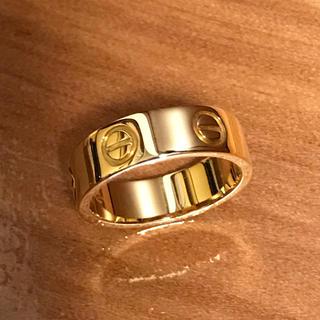 カルティエ(Cartier)のカルティエ ラブ リング 指輪 750YG 49号(リング(指輪))