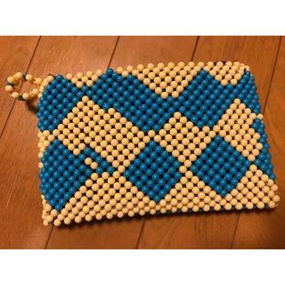マライカ(MALAIKA)のウガンダのハンドメイドビーズ刺繍♡クラッチバッグ♡新品(クラッチバッグ)
