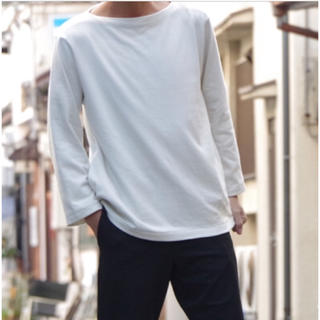 ヤエカ(YAECA)のYAECA バスクシャツ ロング(Tシャツ/カットソー(半袖/袖なし))