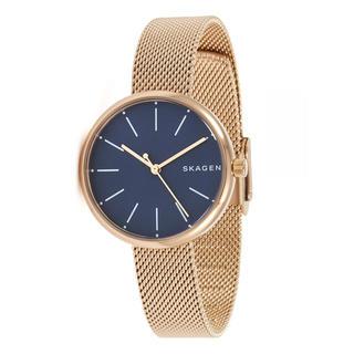 スカーゲン(SKAGEN)の新品 SKAGEN 腕時計 上品な小ぶり青文字盤 SKW2593(腕時計)