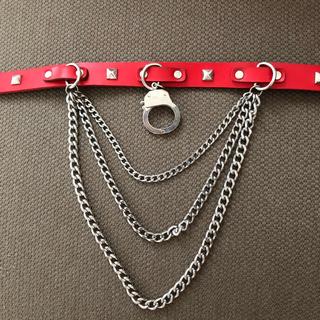 チュチュア(tutuHA)の【ハロウィンコスチューム】パンク チョーカーとクロスネックレス セット(ネックレス)