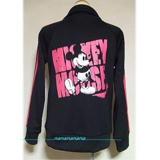 ディズニー(Disney)の新品★ミッキー★トラックジャケット★黒ピンクライン(その他)