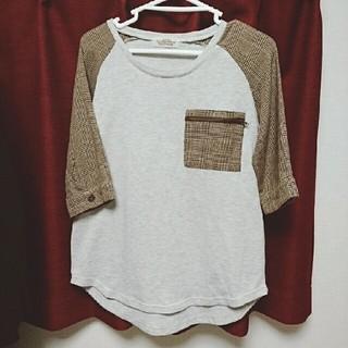 ダブルネーム(DOUBLE NAME)の【DOUBLE NAME】胸ポケット付きラグランT(Tシャツ(長袖/七分))