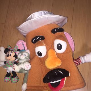 ディズニー(Disney)のポテトヘッドかぶりもの、ミニーキーホルダー、ジェラトーニキーホルダー(キャラクターグッズ)