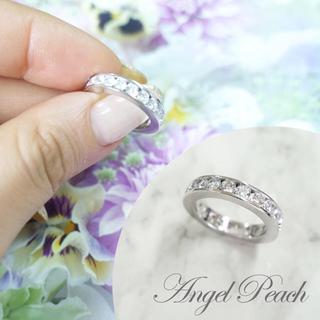 エンジェルピーチ 人工ダイヤ レールタイプ フルエタニティ(リング(指輪))