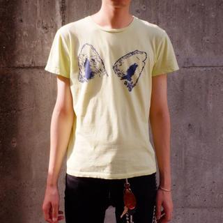 キツネ(KITSUNE)のメゾンキツネ プリントTシャツXS/カットソー/フォックスイヤー(Tシャツ/カットソー(半袖/袖なし))
