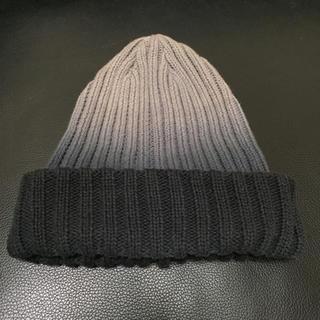 ジェイダ(GYDA)のGYDA ジェイダ ニット帽 グラデーション グレー(ニット帽/ビーニー)
