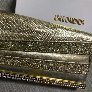 アッシュアンドダイアモンド(ASH&DIAMONDS)のAsh &Diamonds ロングウォレット ゴールド 財布 金(財布)