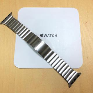 アップルウォッチ(Apple Watch)の【純正】美品 apple watch リンクブレスレット 38mm シルバー (金属ベルト)