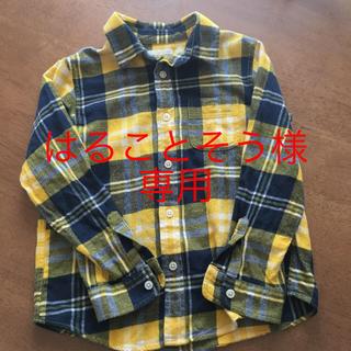 ジーユー(GU)のキッズ ネルシャツ 120センチ(ジャケット/上着)