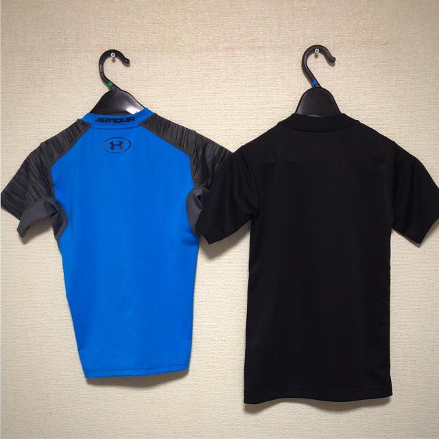 UNDER ARMOUR(アンダーアーマー)の新品 130cm 2枚セット スポーツ シャツ スポーツ/アウトドアのサッカー/フットサル(ウェア)の商品写真