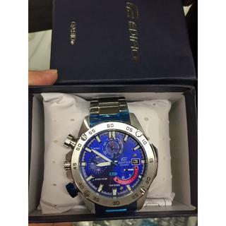 CASIO - CASIO カシオ 腕時計 エディフィス 欧米モデル 防水 ネイビー
