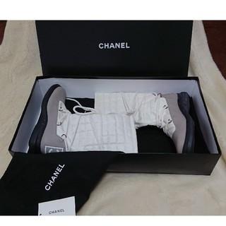 シャネル(CHANEL)の【シャネル】スポーツライン ブーツ 36(購入者23.5cm) ホワイト送料無料(ブーツ)