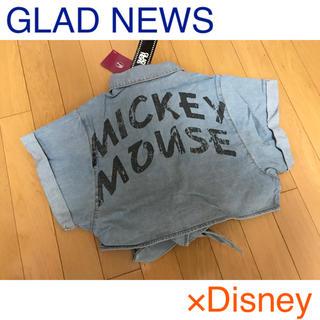 グラッドニュース(GLAD NEWS)の新品 GLAD NEWS×Disney デニムシャツ ディズニー ハロウィン(シャツ/ブラウス(半袖/袖なし))