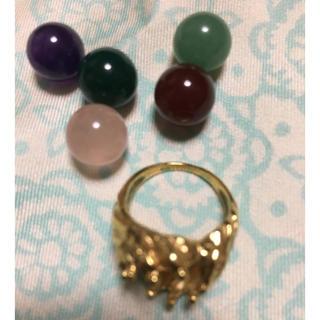 18金 天然石 指輪 パワーストーン リング お値下げ(リング(指輪))