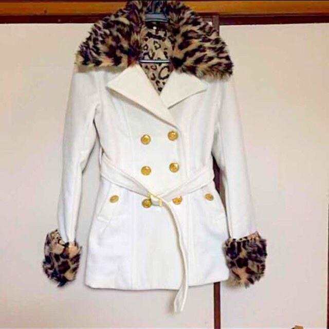 白コート レディースのジャケット/アウター(ピーコート)の商品写真