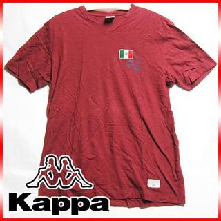 カッパ(Kappa)のサンプル!kappa calcio カッパ VネックTシャツ ワインレッド(ウェア)