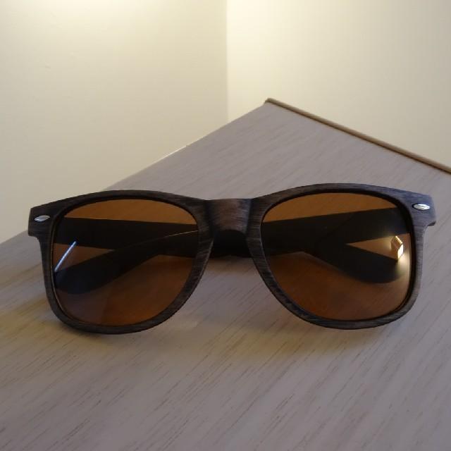 ウッディー☆ウェリントン☆サングラス レディースのファッション小物(サングラス/メガネ)の商品写真