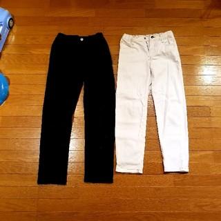 ジーユー(GU)のジーユー キッズ 黒パンツ&白パンツ (パンツ/スパッツ)