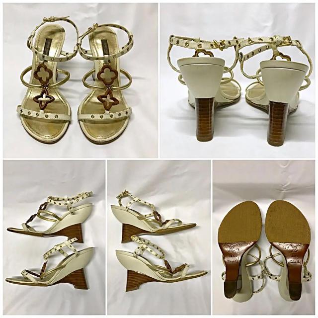 LOUIS VUITTON(ルイヴィトン)のヴィトン サンダル ウエッジソール レディースの靴/シューズ(サンダル)の商品写真