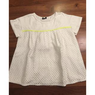 カルディア(CALDia)のカルディア  キッズTシャツ  女の子  白レース(Tシャツ/カットソー)