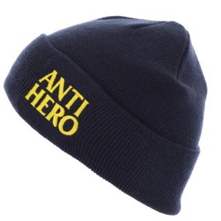 アンチヒーロー(ANTIHERO)のANTIHERO「BLACK HERO EMB CUFF BEANIE」(ニット帽/ビーニー)